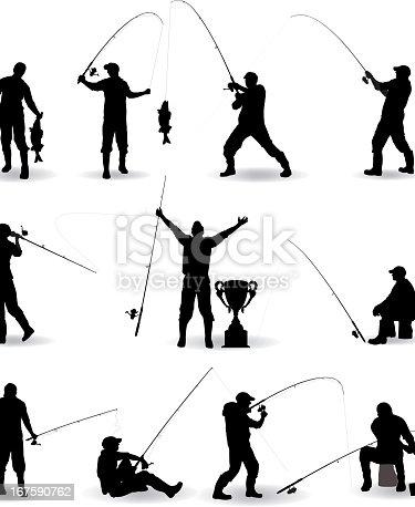 Fishing Silhouette Illustration
