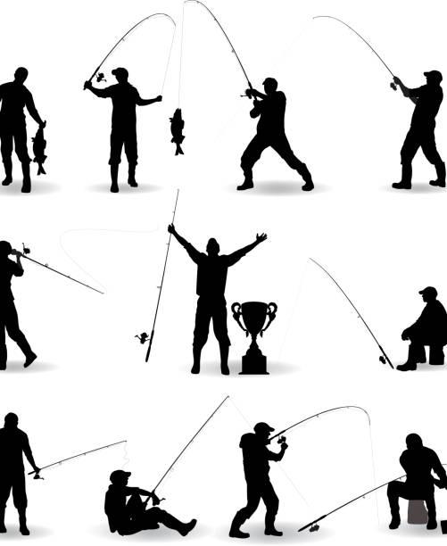 sieć - rybactwo stock illustrations