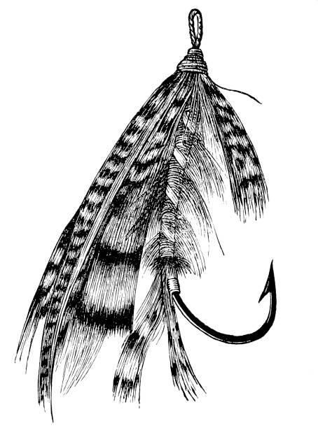 Fishing lure vector art illustration