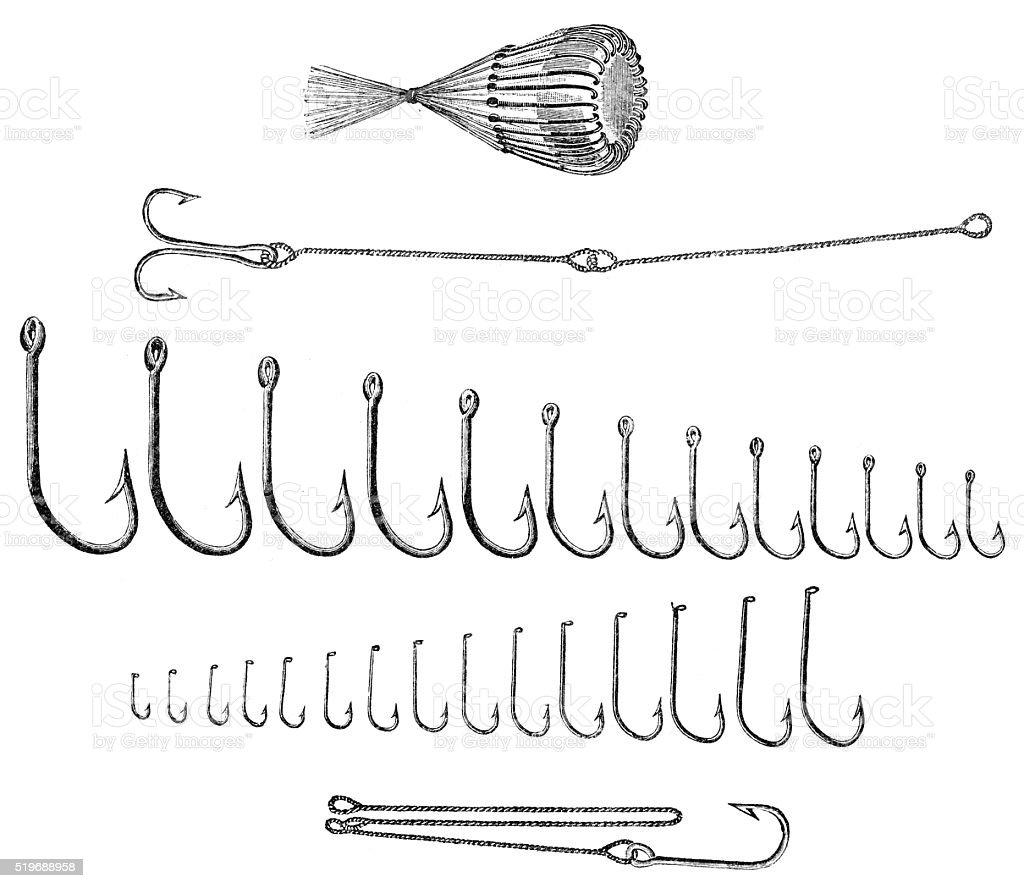 Fishing Lures vector art illustration