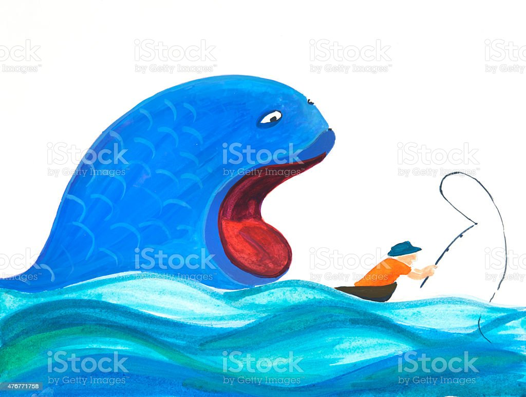 Fishing_Karma vector art illustration