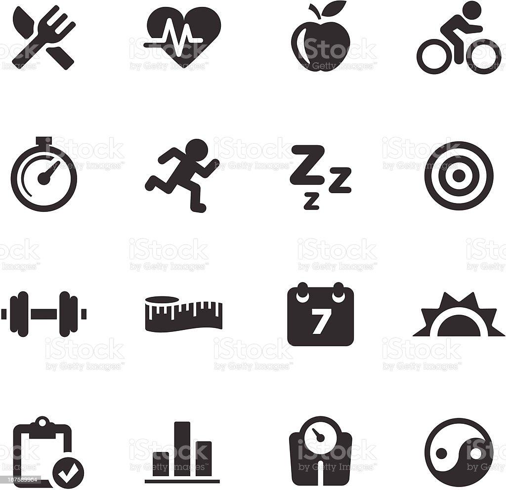 Fitness Icons | Mono Series vector art illustration