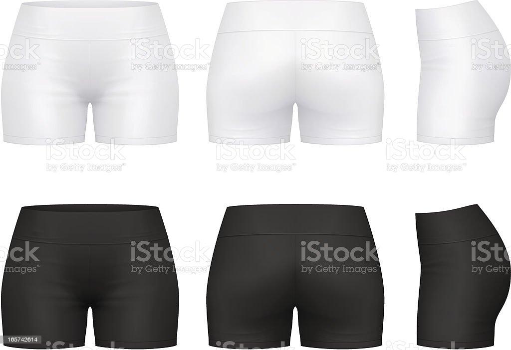 Fitness shorts vector art illustration
