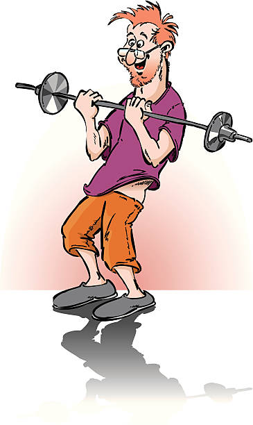 bildbanksillustrationer, clip art samt tecknat material och ikoner med fitness-center beginner - gym skratt