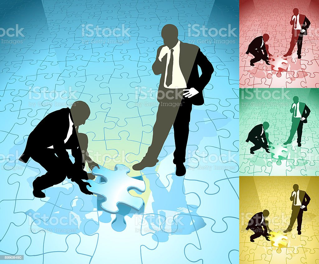 Fitting final piece of the jigsaw royalty-free fitting final piece of the jigsaw stock vector art & more images of abstract