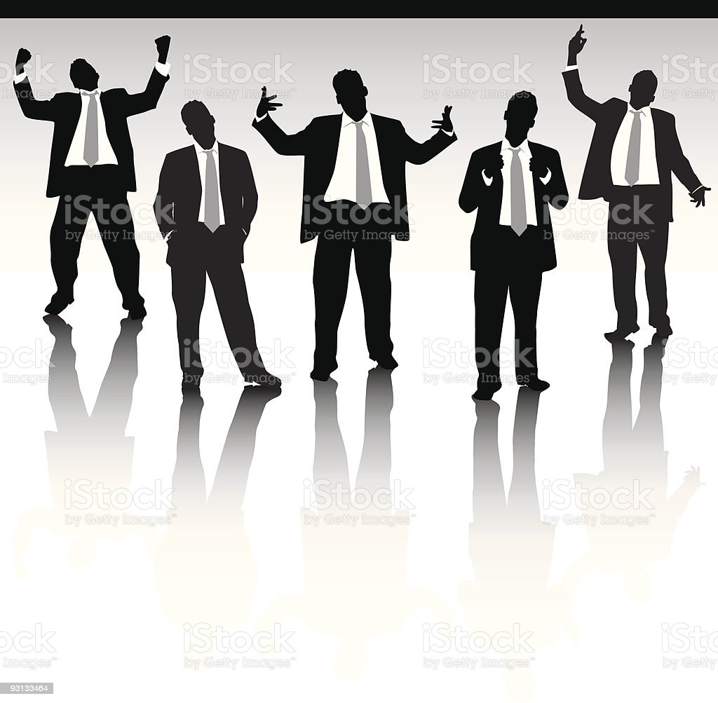 Five business men royalty-free stock vector art