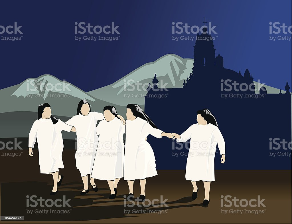 Five nuns royalty-free five nuns stock vector art & more images of adult
