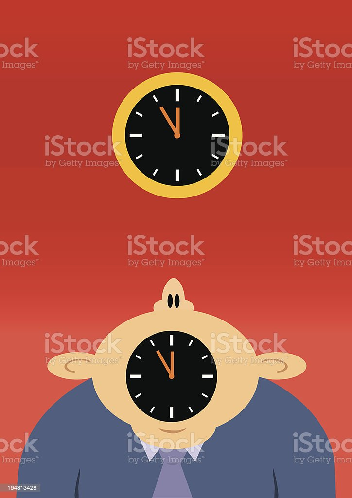 Five to midnight royalty-free stock vector art