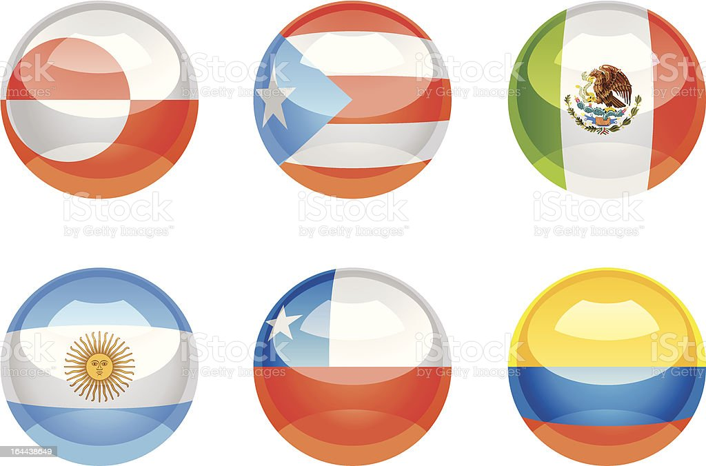 Flag buttons royalty-free stock vector art