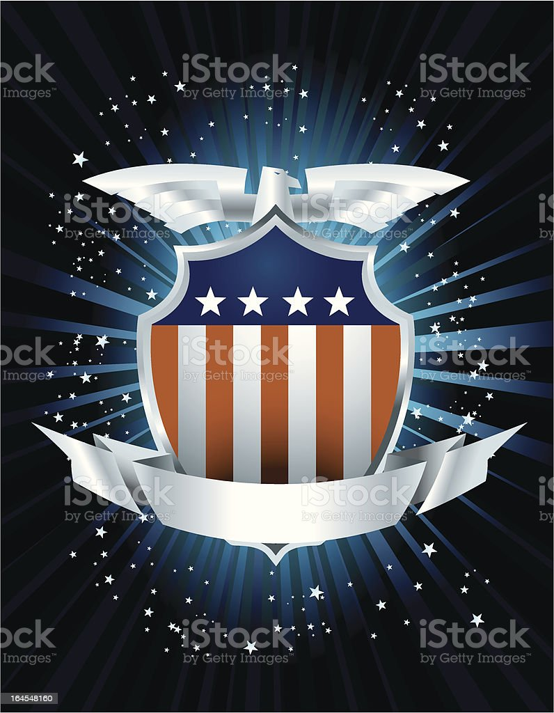 US Flag Emblem royalty-free stock vector art