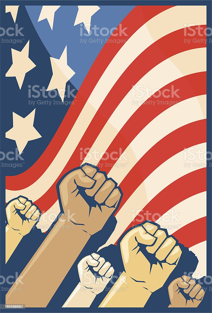 flag fists royalty-free flag fists stock vector art & more images of american culture