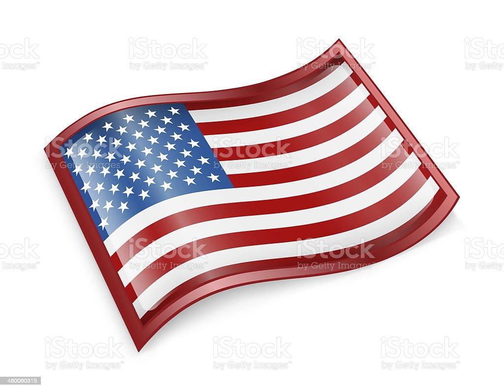 USA flag icon vector art illustration