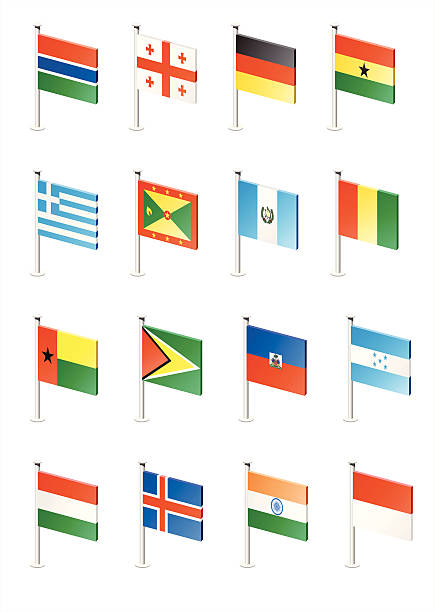 stockillustraties, clipart, cartoons en iconen met flag icon set (part 5) - zuid europa