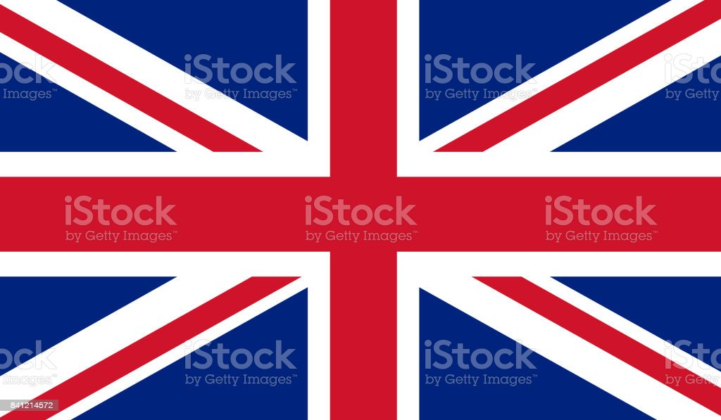 UK flag vector art illustration