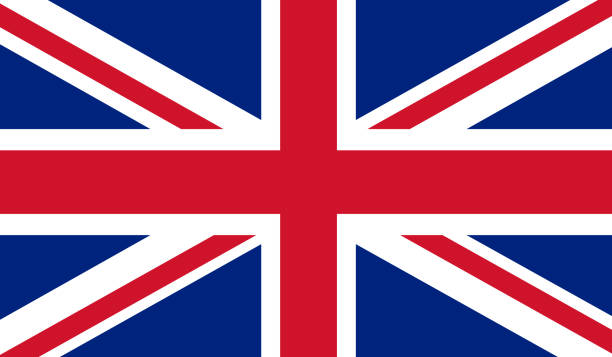 uk flag - union jack flag stock illustrations, clip art, cartoons, & icons