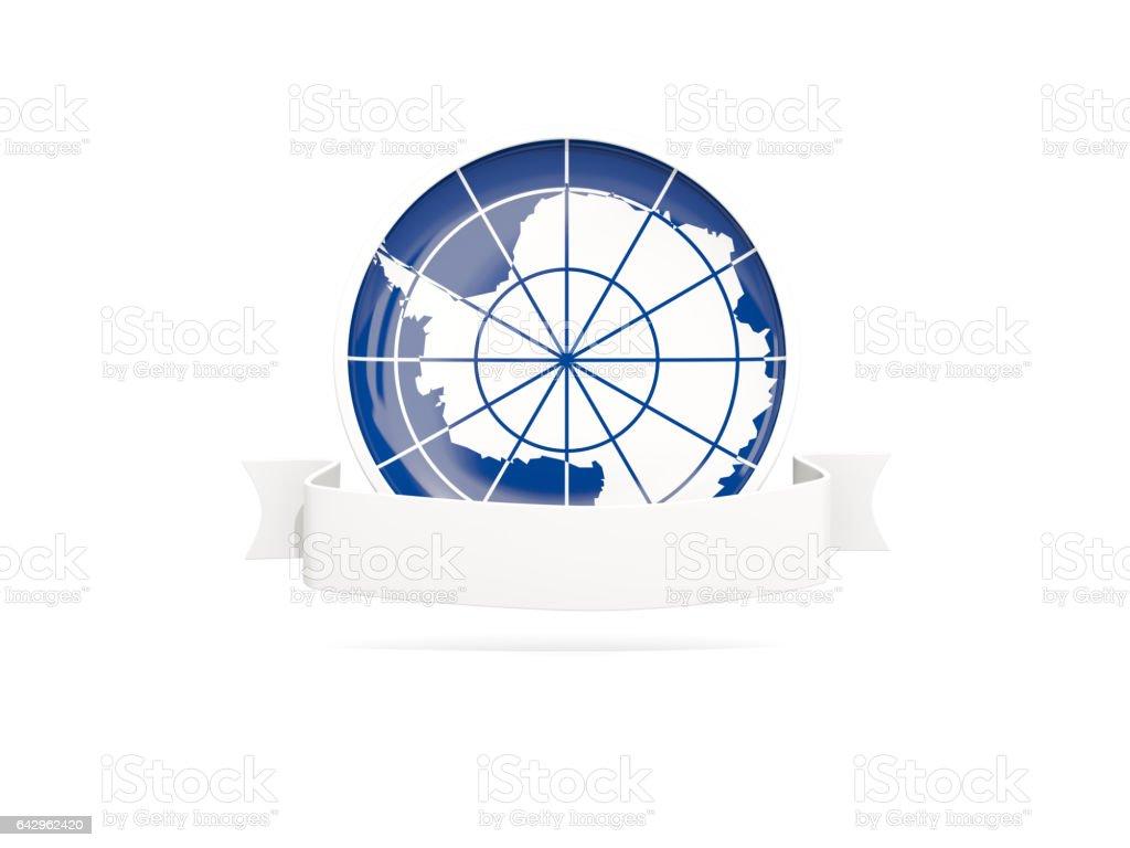 Flag of antarctica with banner - ilustración de arte vectorial
