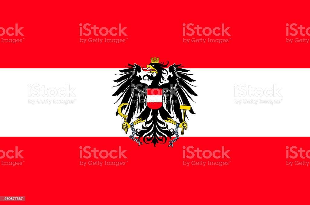 Flag of Austria vector art illustration