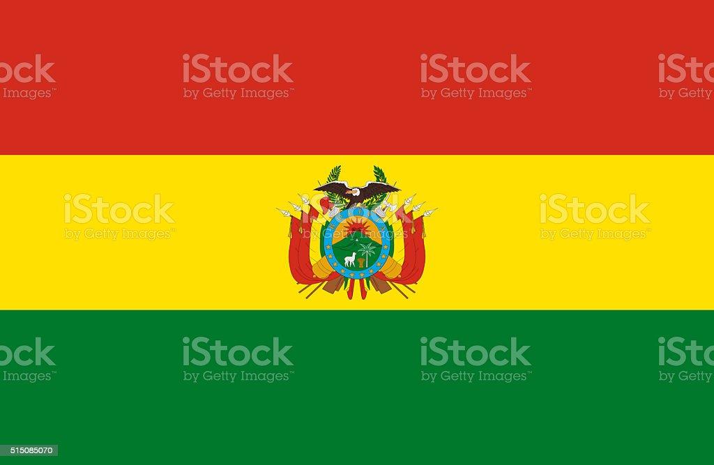 Bandera de Bolivia - ilustración de arte vectorial