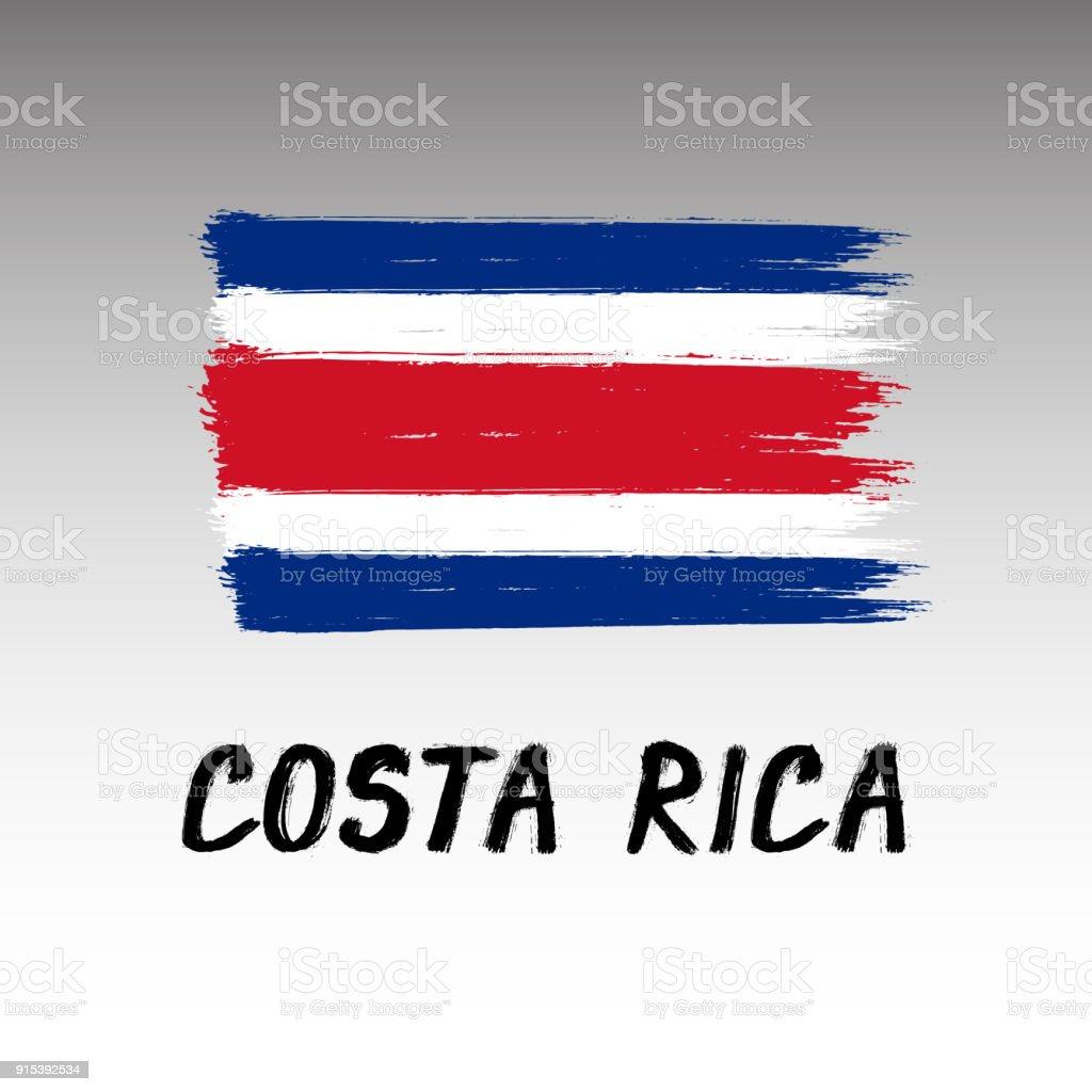 Bandeira da Costa Rica - Grunge - ilustração de arte em vetor