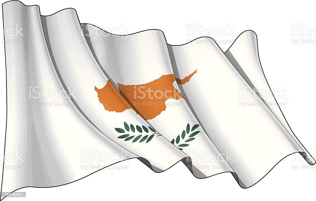 Flag of Cyprus royalty-free stock vector art