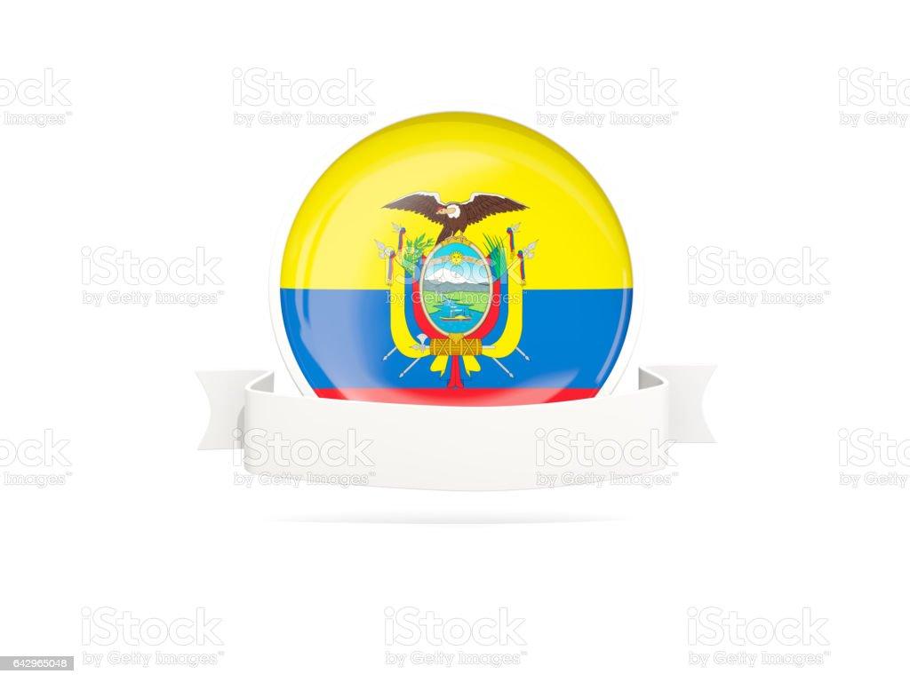 Flag of ecuador with banner - Illustration vectorielle