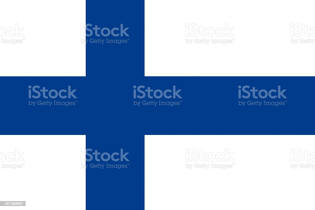 国旗のフィンランド ベクターアートイラスト