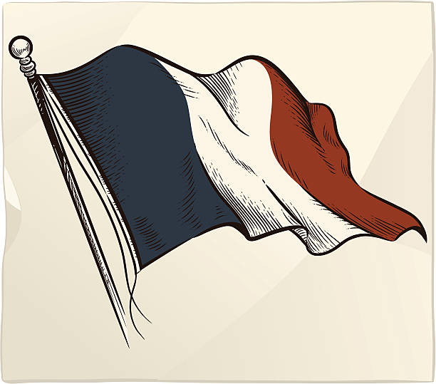 Flag of France vector art illustration