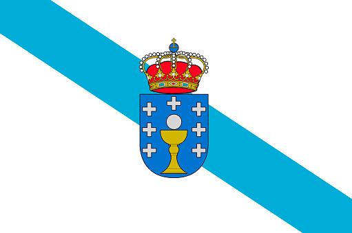 Galiçya İspanya Bayrağı Stok Vektör Sanatı & Avrupa'nin Daha Fazla Görseli  - iStock