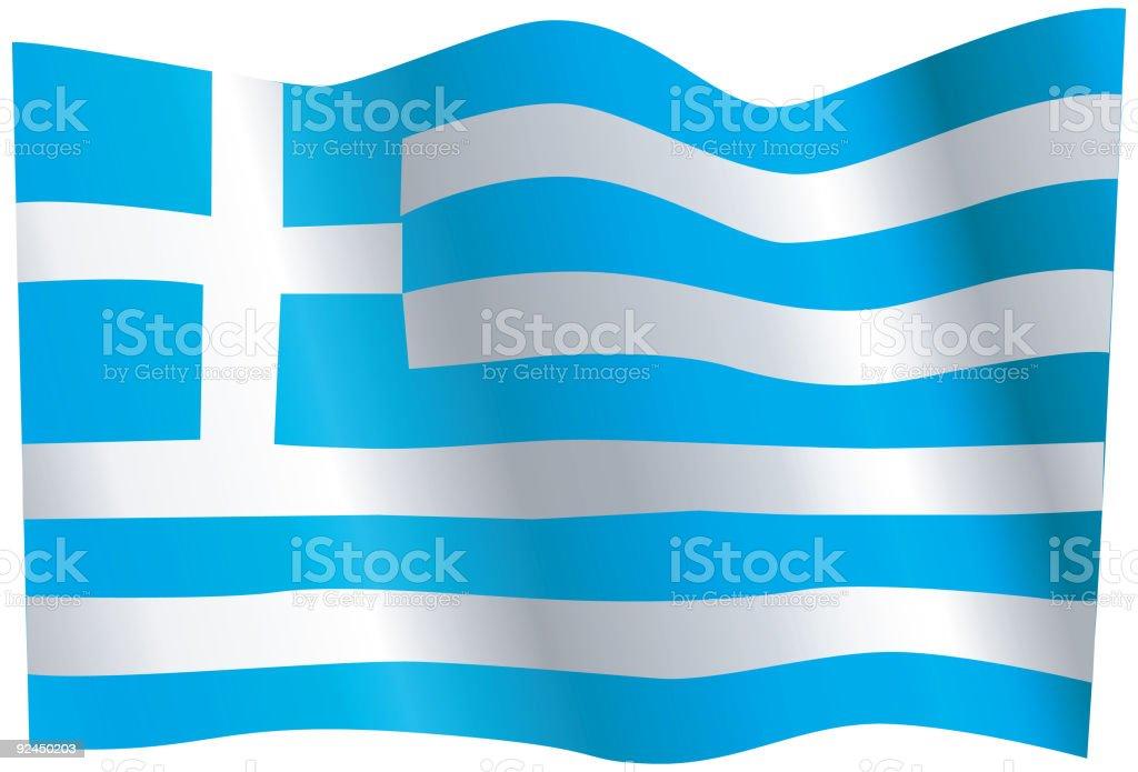 Flag of Greece (Vector) royalty-free stock vector art