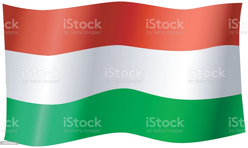 Flag of Hungary (Vector) royalty-free stock vector art