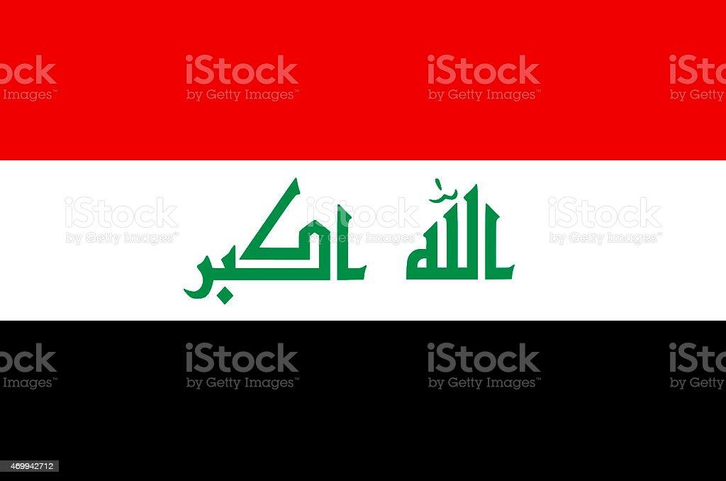 Flag of Iraq vector art illustration
