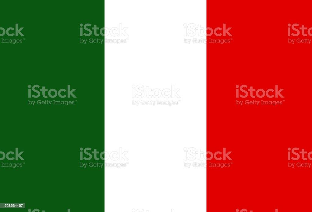 Flag of Italy vector art illustration