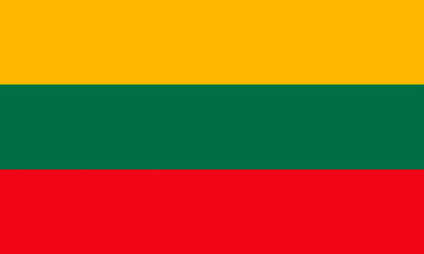 Flag of Lithuania. National flag of the Republic of Lithuania. lithuania stock illustrations