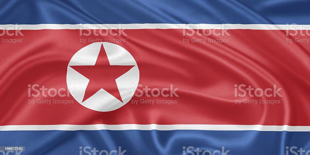 Bandera de corea del norte - ilustración de arte vectorial