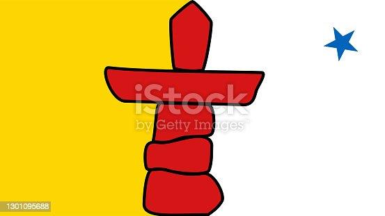 istock Flag of Nunavut 1301095688