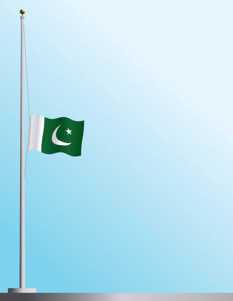 Image result for PaKISTAN FLAG HALF STAFF
