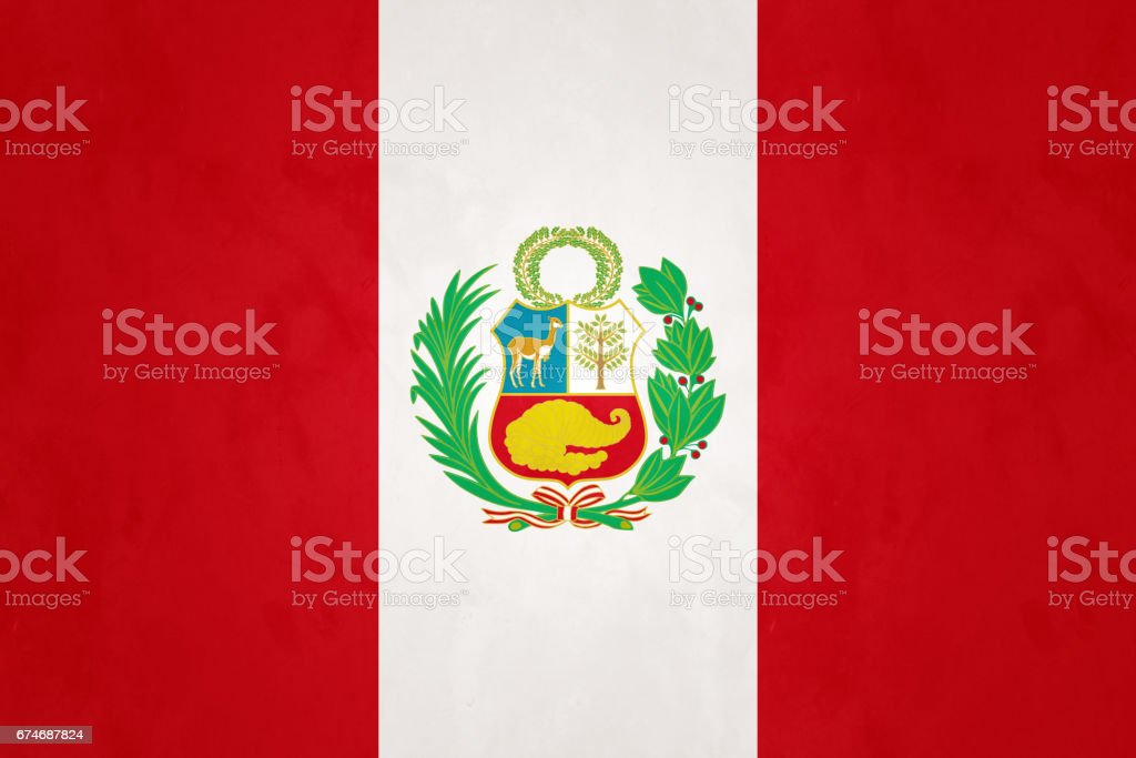 Flag of Peru vector art illustration