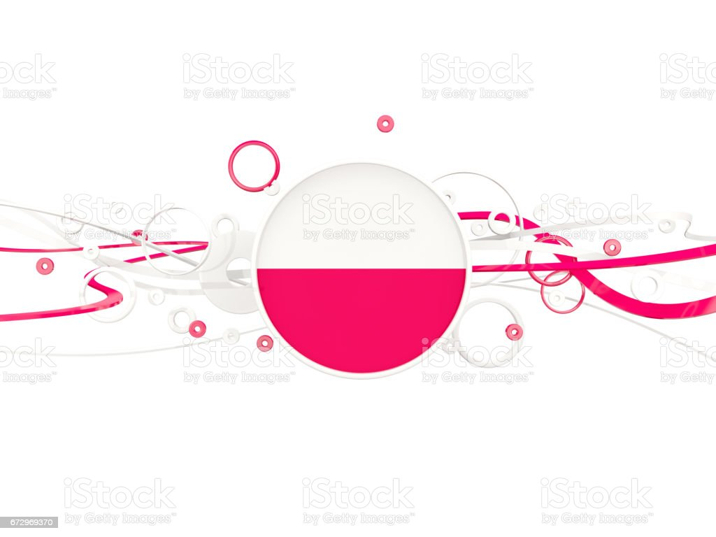 Flag of poland, circles pattern with lines ベクターアートイラスト