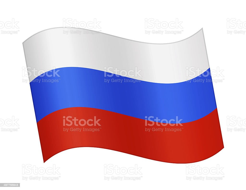 Flag of Russia royalty-free stock vector art