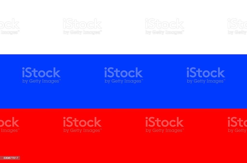 Flag of  Russland vector art illustration