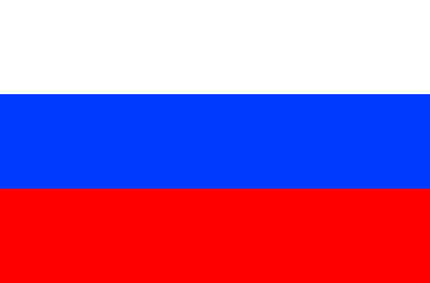 flag of  russland - russian flag stock illustrations, clip art, cartoons, & icons