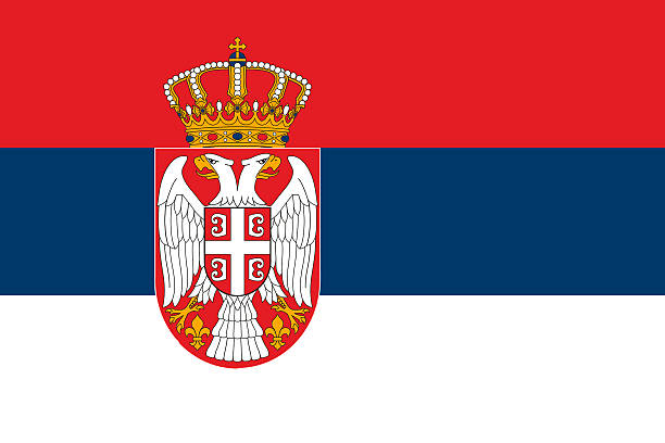 Flag of Serbia National flag of the Republic of Serbia. serbia stock illustrations