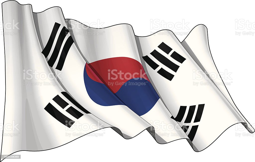 Flag of South Korea royalty-free stock vector art