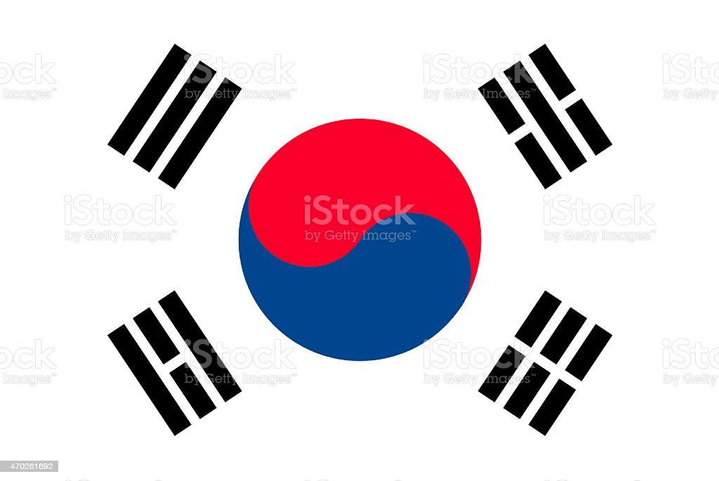 Bandeira da Coreia do Sul - ilustração de arte em vetor