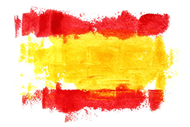 flag of spain - spanish flag stock illustrations, clip art, cartoons, & icons