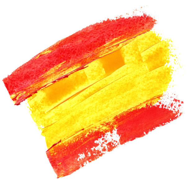 Drapeau de l'Espagne  - Illustration vectorielle