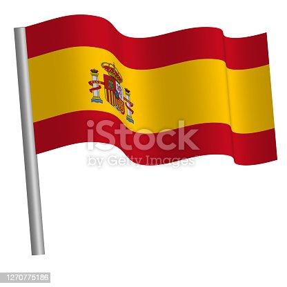 High quality flag waving on a pole