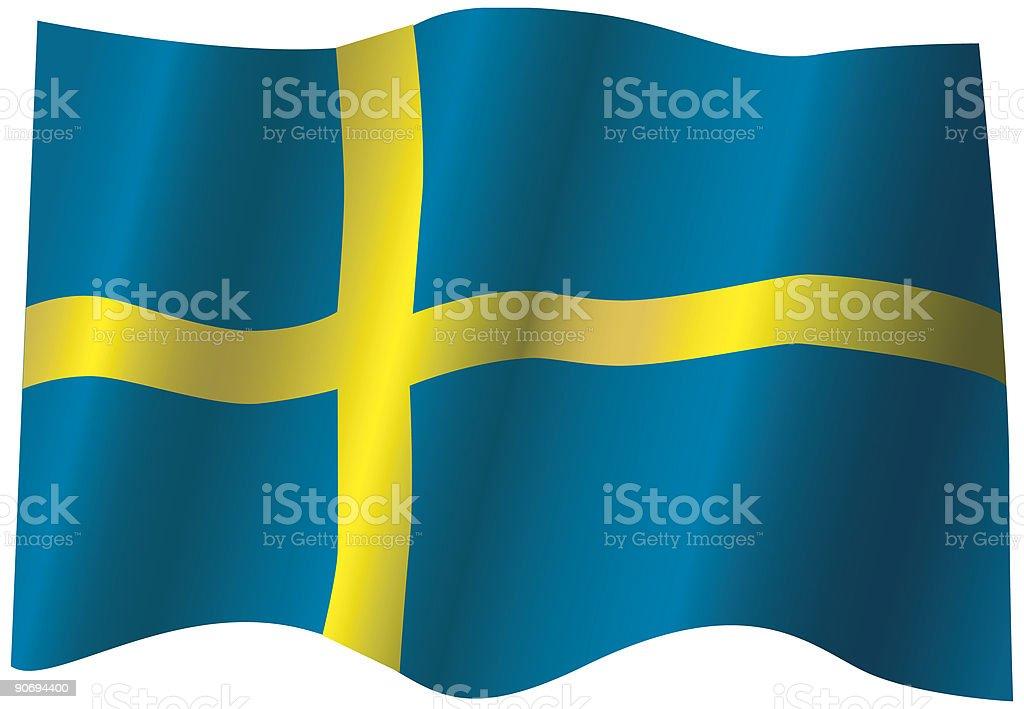 Flag of Sweden (Vector) royalty-free flag of sweden stock vector art & more images of color image