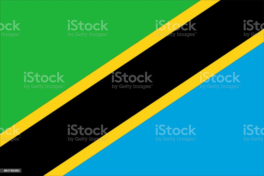 Flag of Tanzania royalty-free flag of tanzania stock illustration - download image now