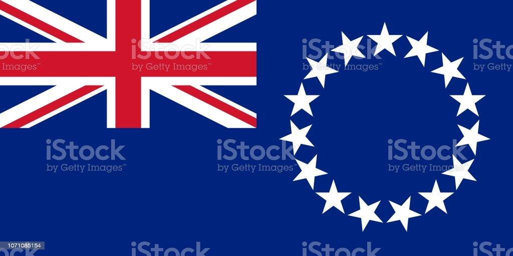 Bandeira das Ilhas Cook - ilustração de arte em vetor